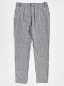 Men Slant Pocket Houndstooth Pants