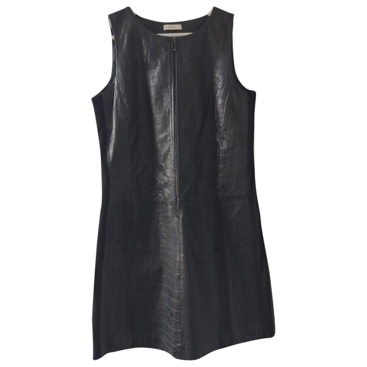 Paul Smith - Robe   pour femme en cuir - noir