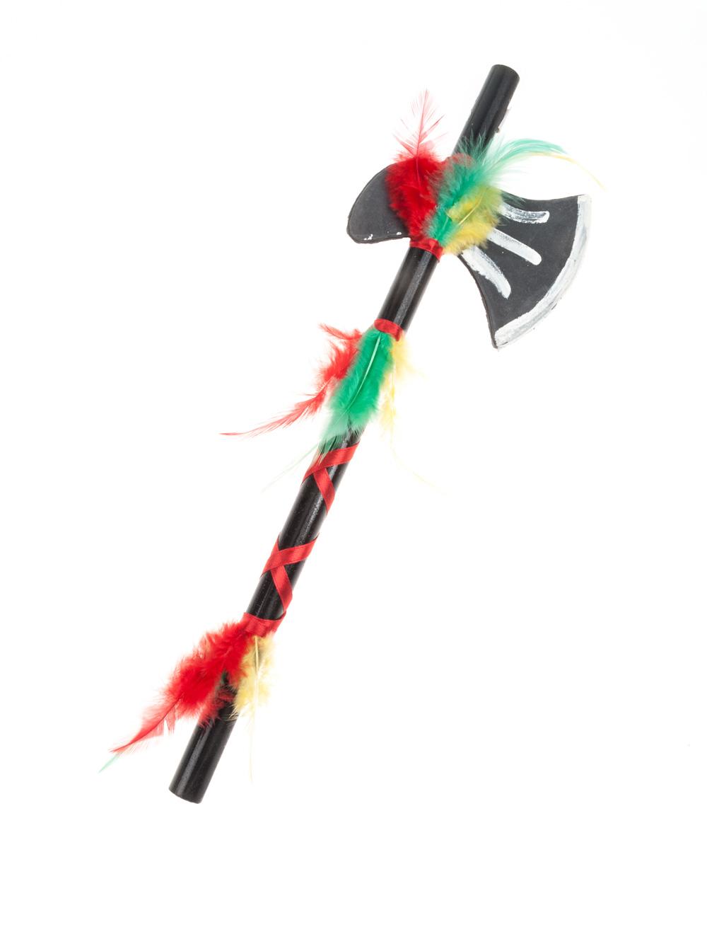 Kostuemzubehor Axt Indianer de luxe Farbe: multicolor bzw. bunt