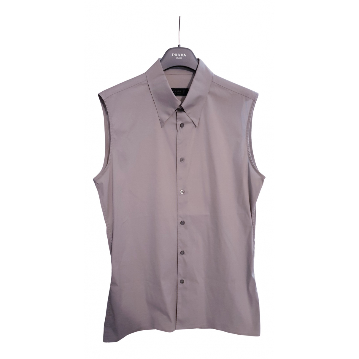 Prada - Chemises   pour homme en coton - gris