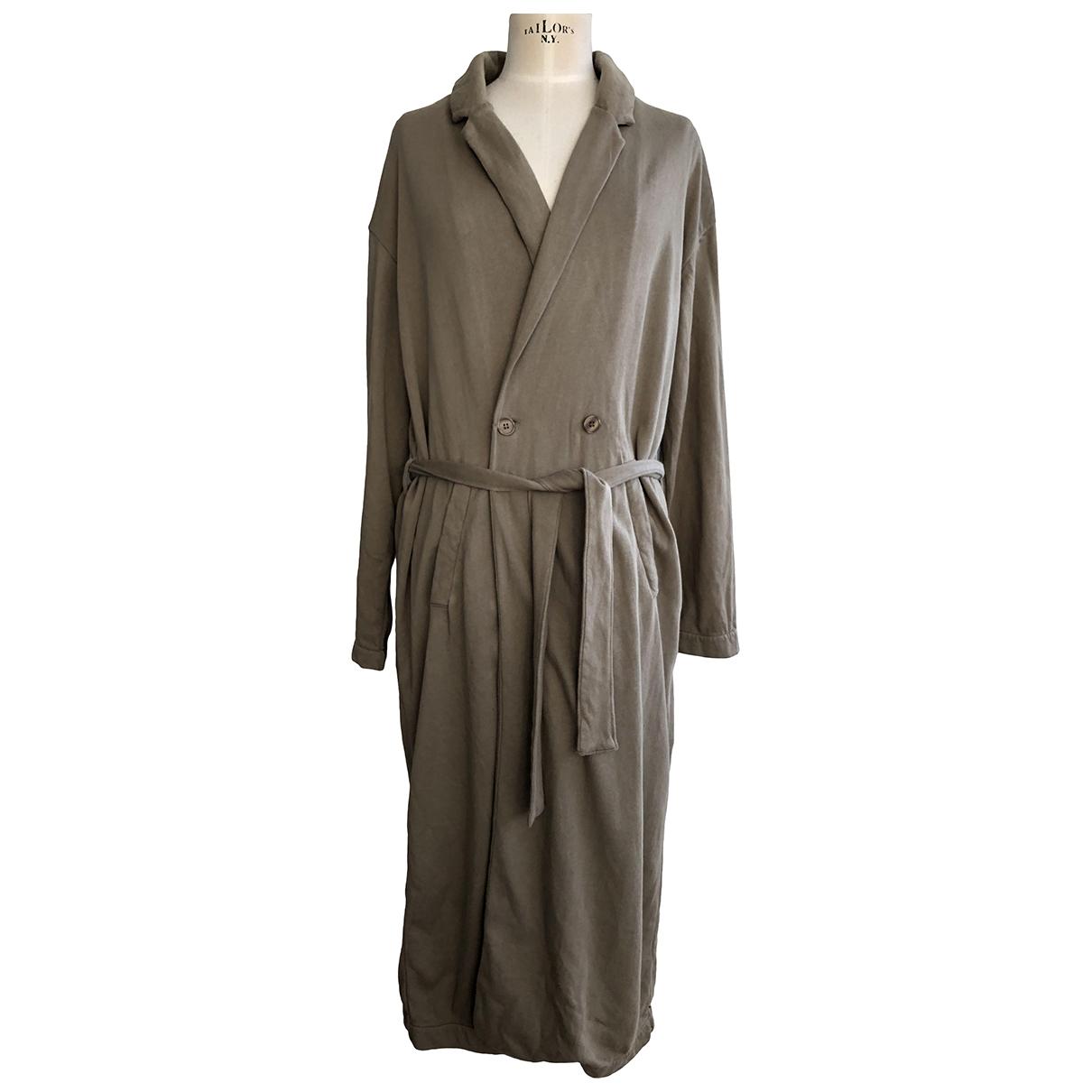 American Vintage \N Jacke in  Khaki Baumwolle