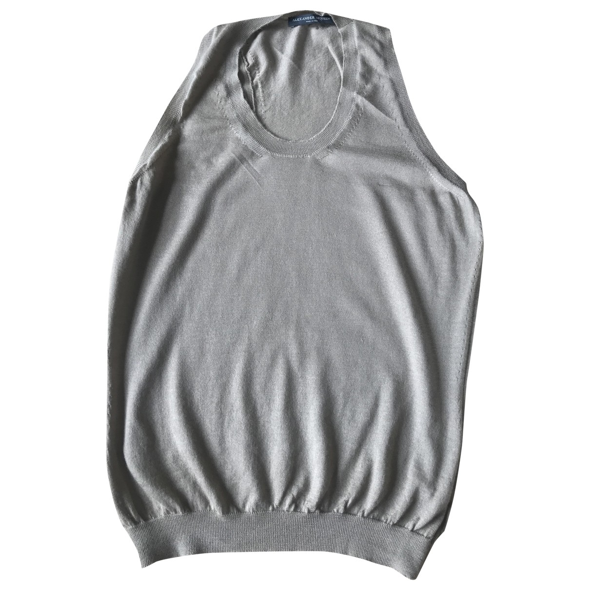 Camiseta sin mangas de Cachemira Alexander Mcqueen
