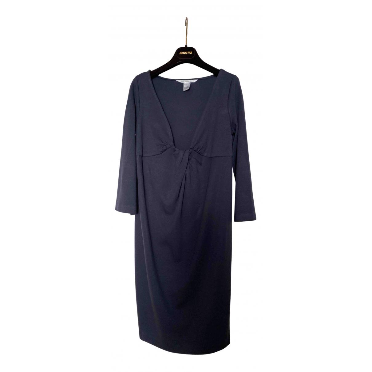 Diane Von Furstenberg \N Kleid in  Grau Wolle