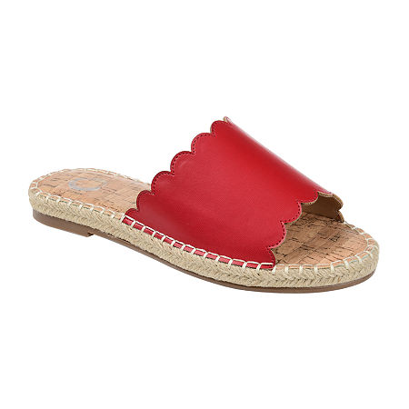 Journee Collection Womens Marjan Slip-On Shoe, 10 Medium, Red