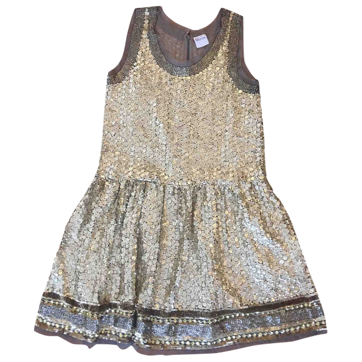 Red Valentino Garavani \N Kleid in  Gold Polyester