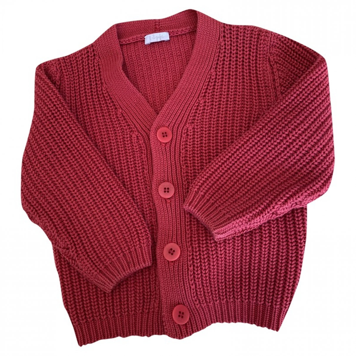 Non Signe / Unsigned \N Pullover, StrickJacke in  Rot Baumwolle