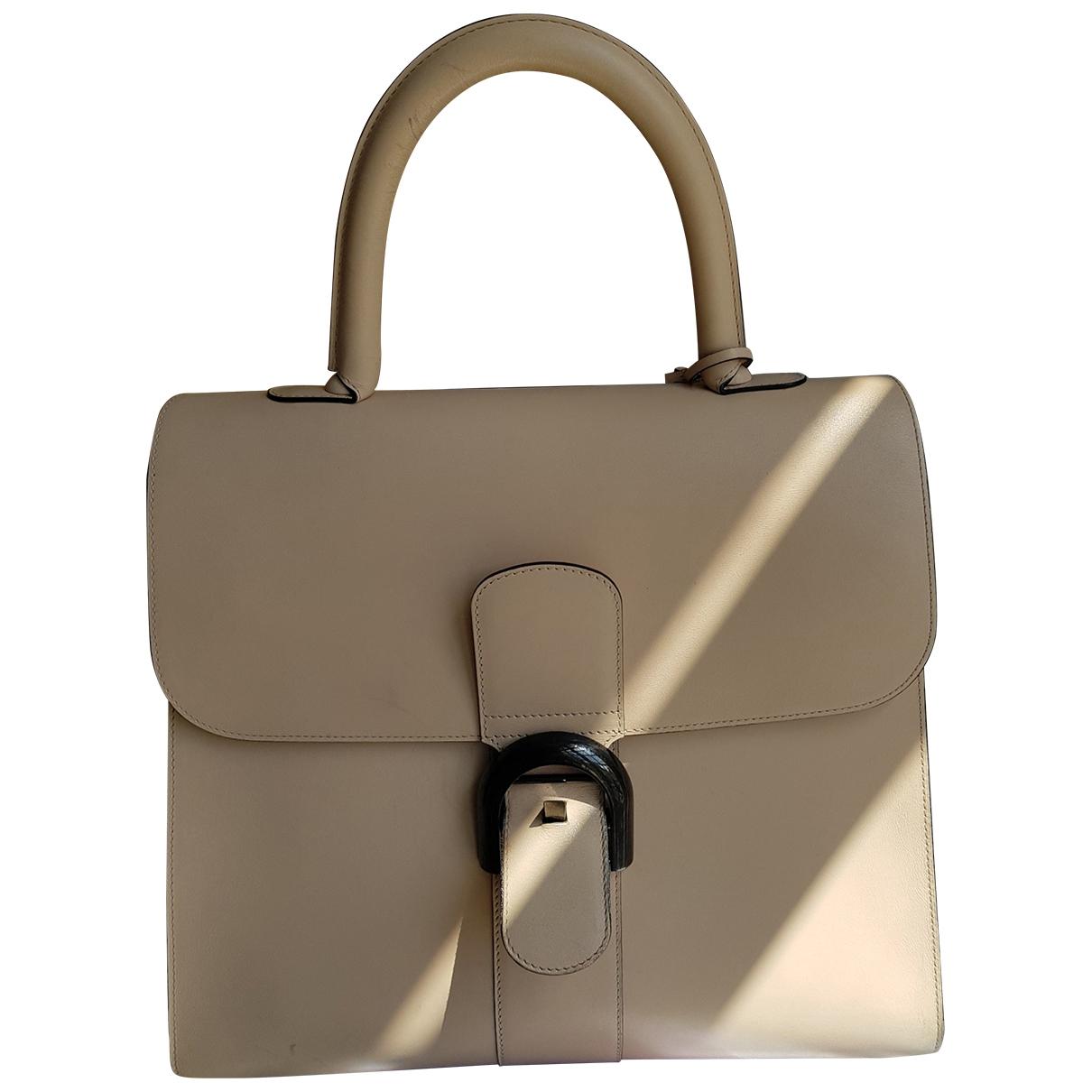 Delvaux Le Brillant Beige Leather handbag for Women \N