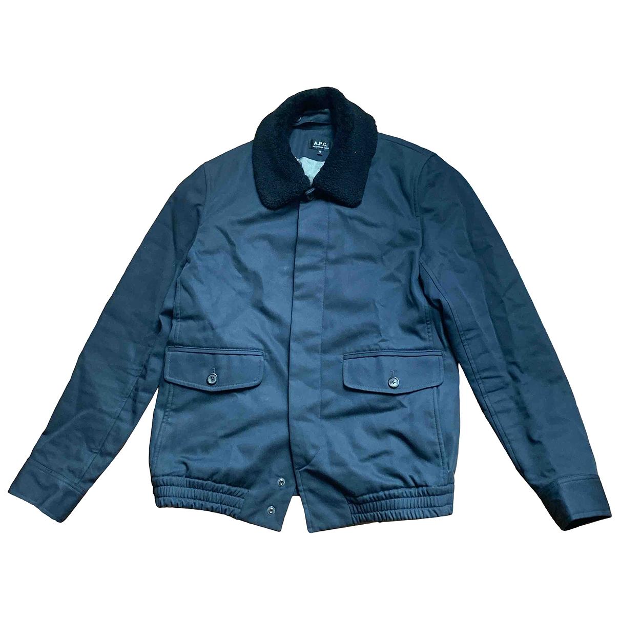 Apc - Vestes.Blousons   pour homme en coton - bleu