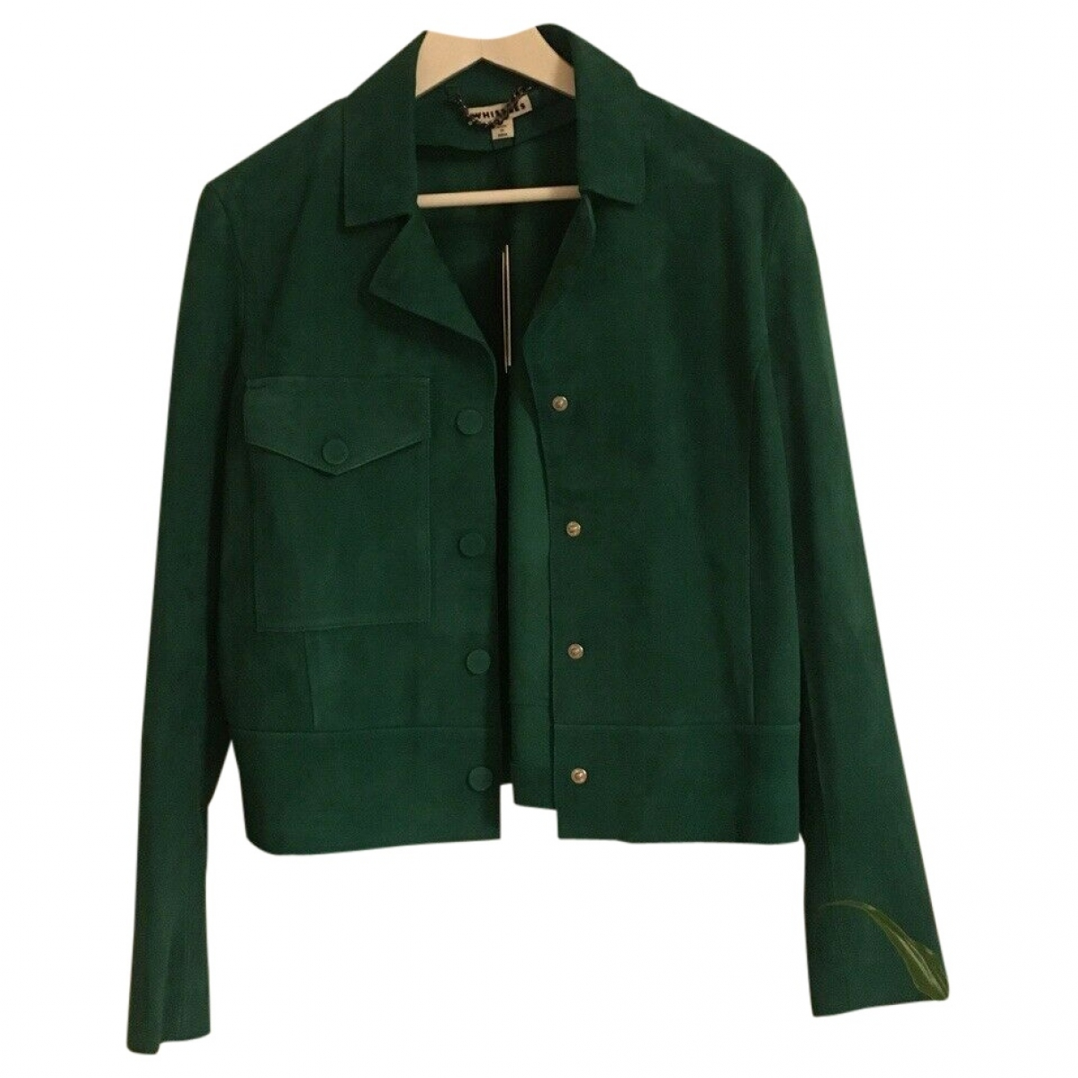 Whistles \N Green Suede jacket for Women 12 UK