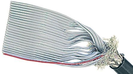 HARTING 20 Way Screened Round Ribbon Cable, 25.4 mm Width
