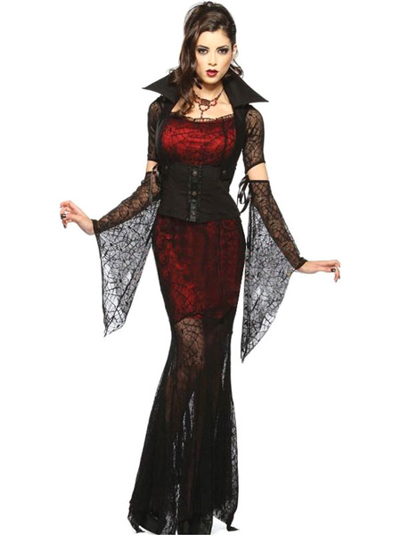 Milanoo Disfraz Halloween Halloween Gotico Vampiro Disfraz para Mujeres Halloween Carnaval Halloween