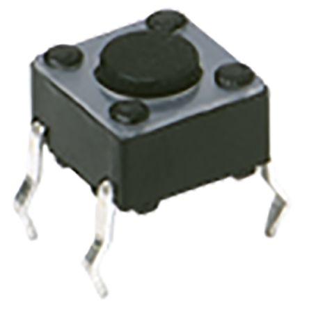 C & K IP40 Top Tactile Switch, Single Pole Single Throw (SPST) 50 mA 1.05mm Through Hole (50)