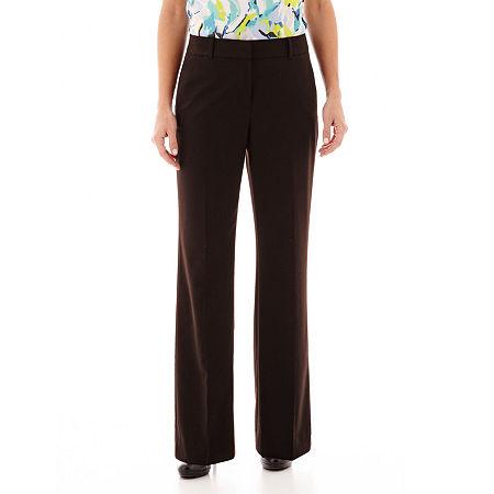 Liz Claiborne Sophie Secretly Slender Trousers, 20 Short , Gray