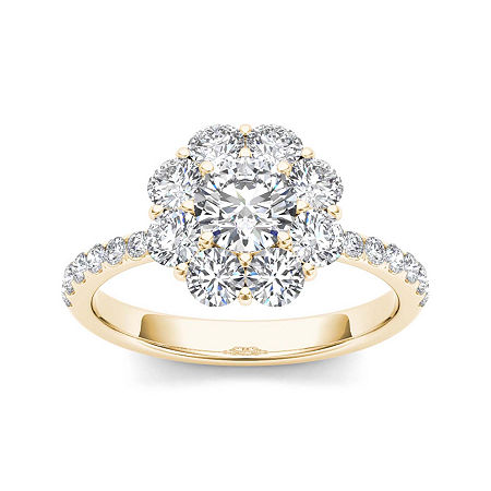 1 3/4 CT. T.W. Diamond 14K Yellow Gold Engagement Ring, 8 1/2 , No Color Family