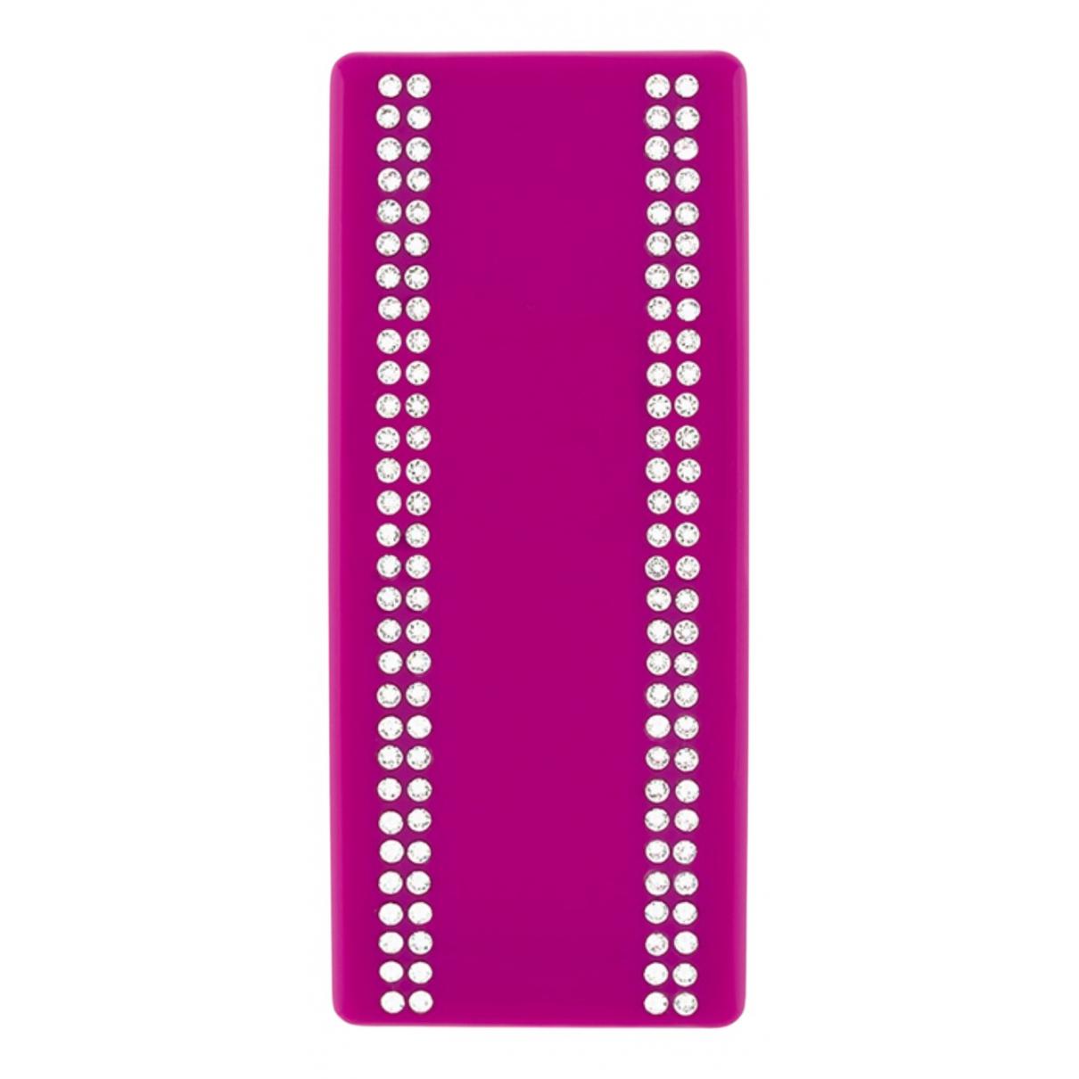 Balenciaga \N OhrRing in  Rosa Kunststoff