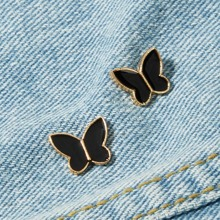 Butterfly Shaped Brooch Set 2pcs