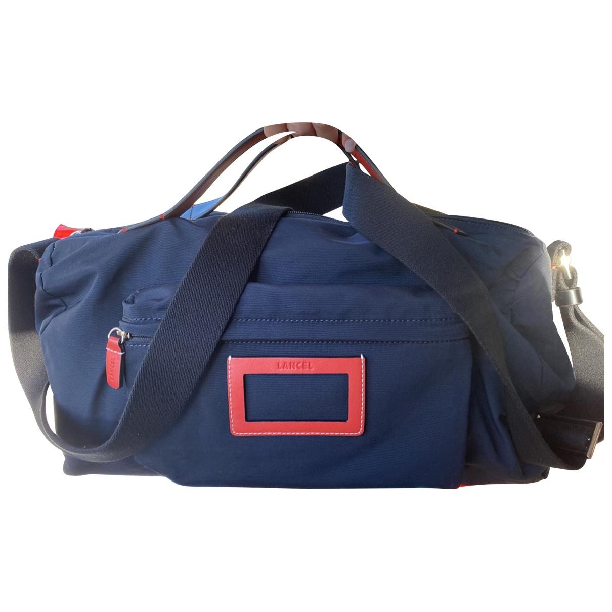 Lancel \N Reisetasche in  Marine Leinen