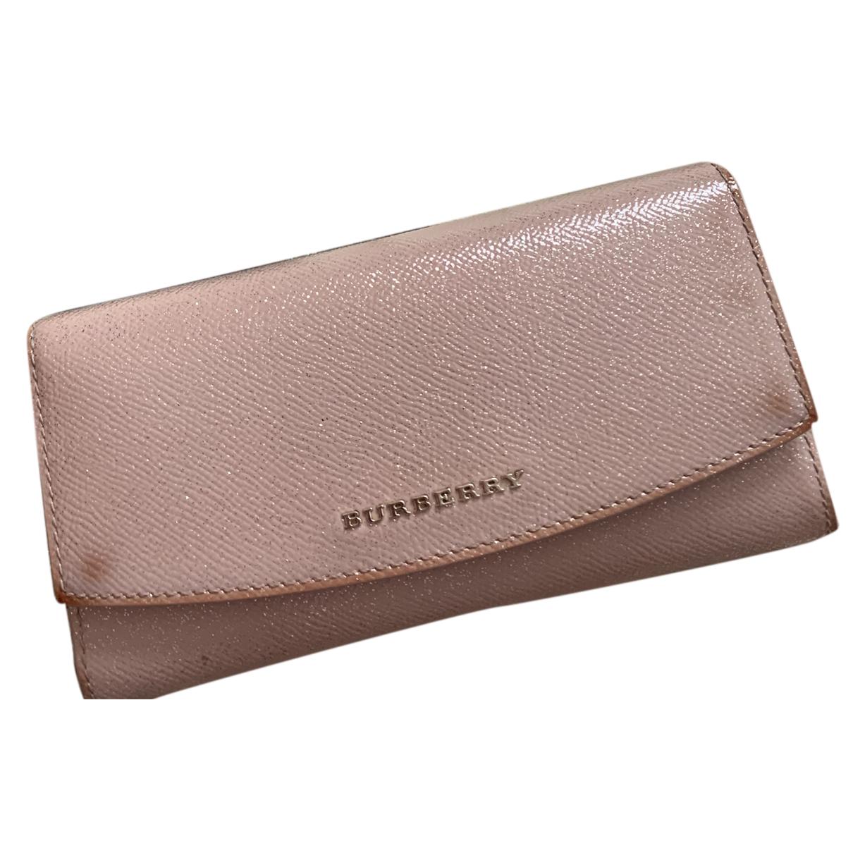 Burberry - Portefeuille   pour femme en cuir - rose