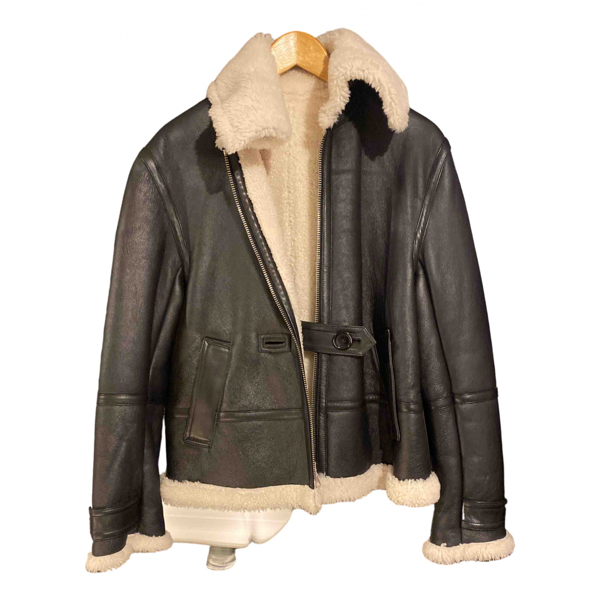 Helmut Lang \N Black Shearling Leather jacket for Women S International