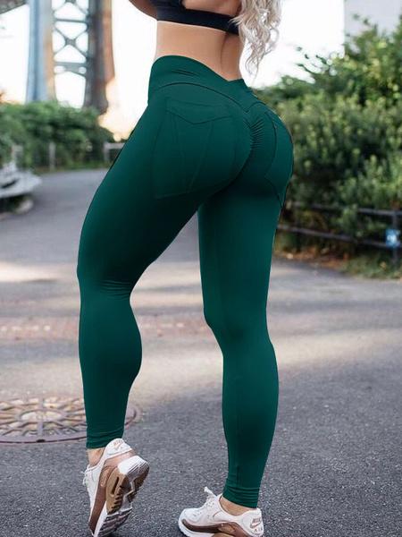 Milanoo Leggings de gimnasio Leggings de entrenamiento elasticos de cintura natural