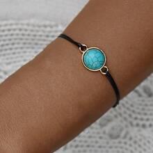1pc Turquoise Decor String Bracelet
