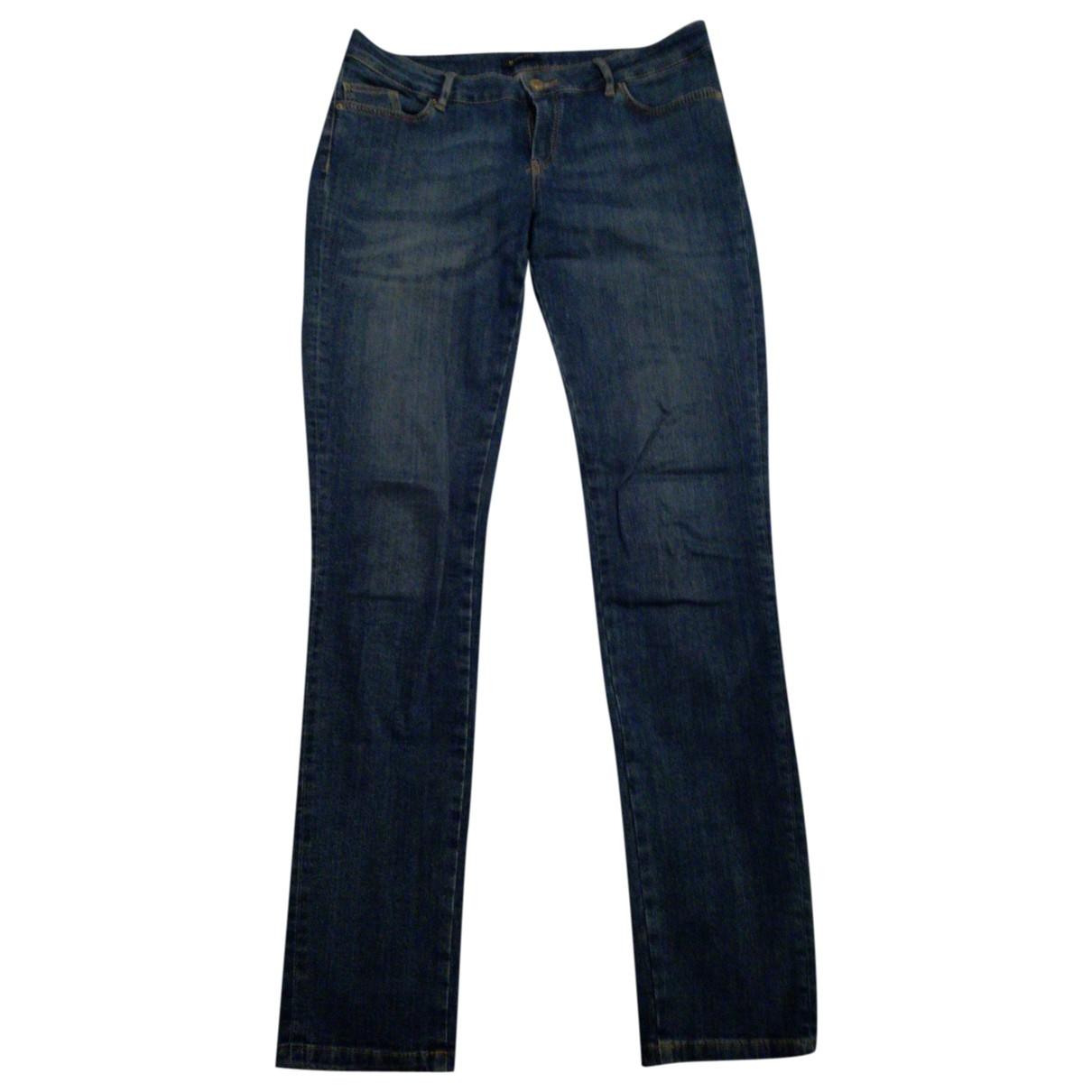 Massimo Dutti \N Blue Cotton - elasthane Jeans for Women 32 US