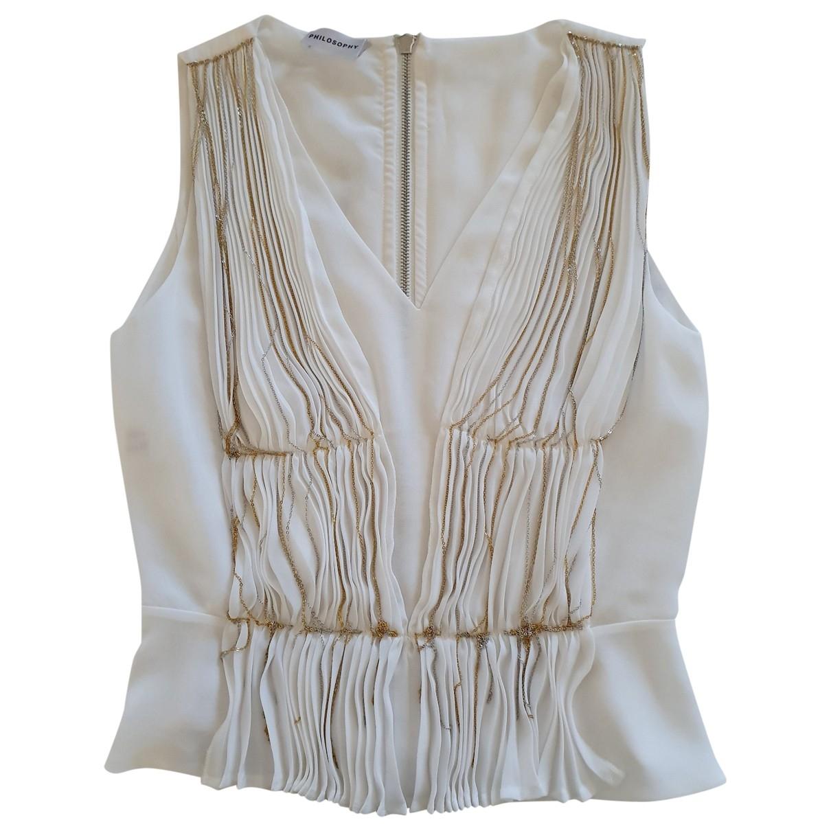 Philosophy Di Alberta Ferretti - Top   pour femme en soie - blanc