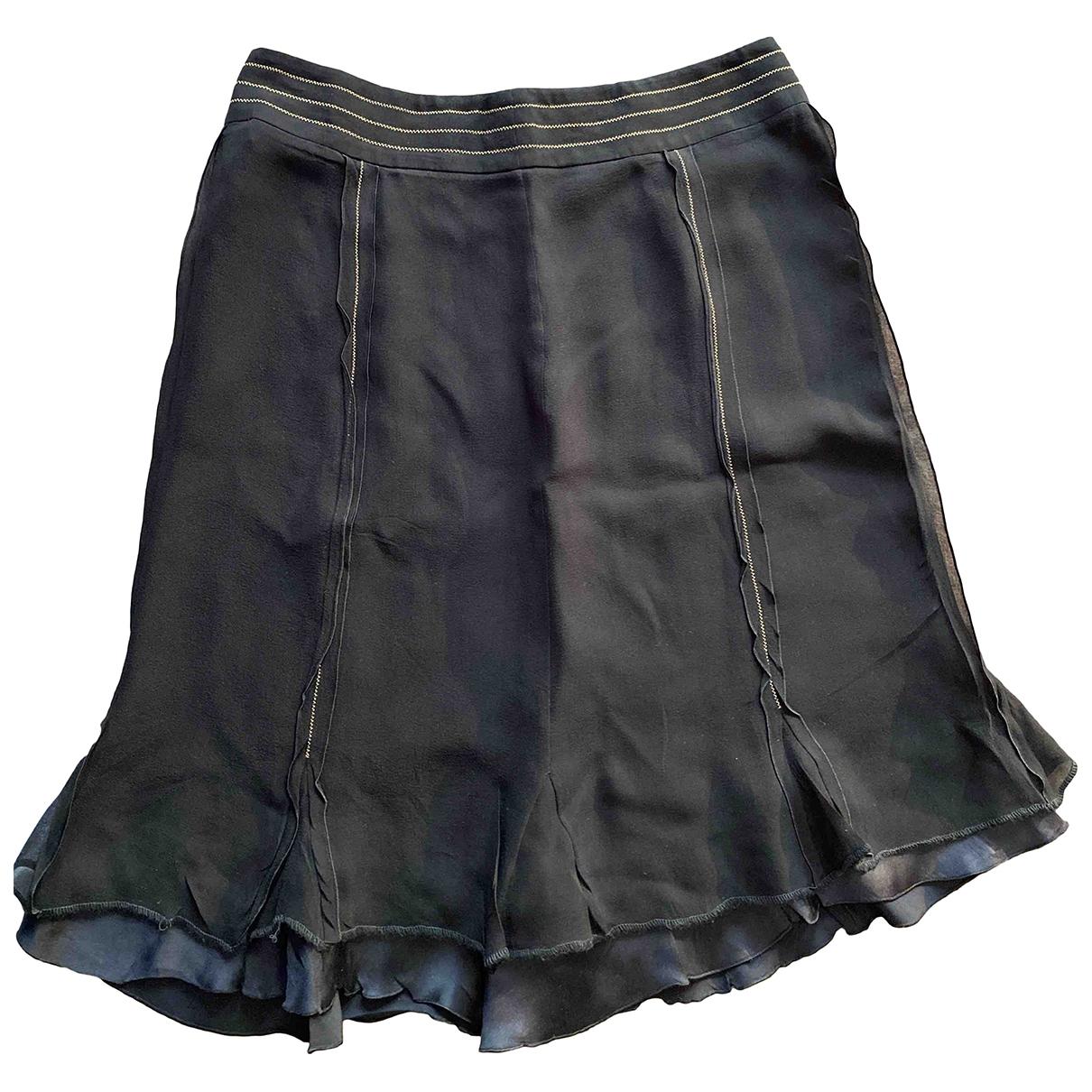 Max Mara - Jupe   pour femme en soie - noir