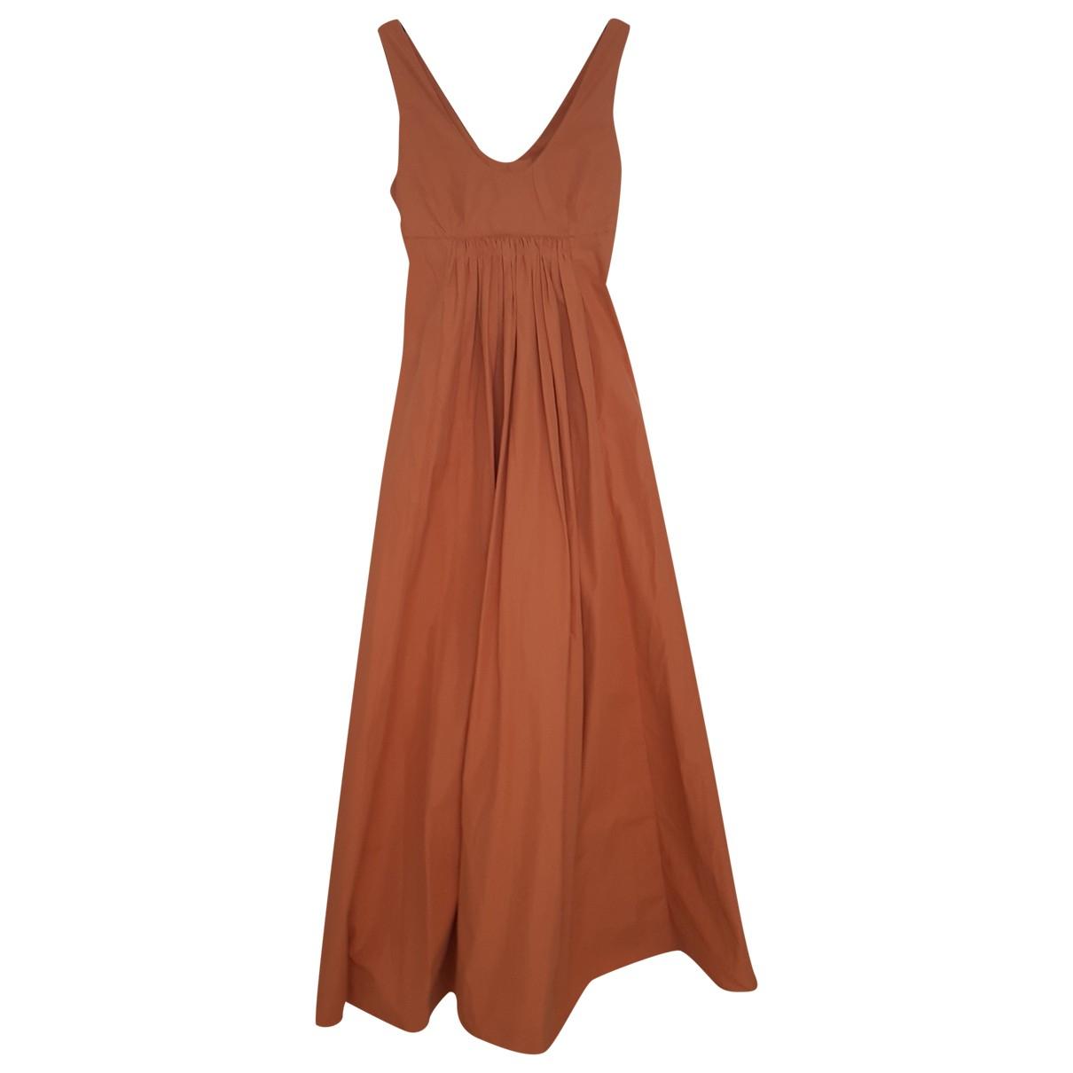 Three Graces London \N Orange Cotton dress for Women 8 US