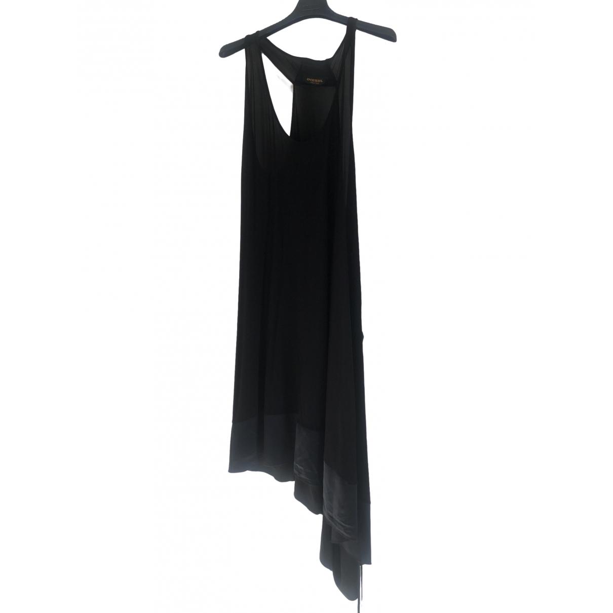 Diesel Black Gold \N Kleid in  Schwarz Viskose