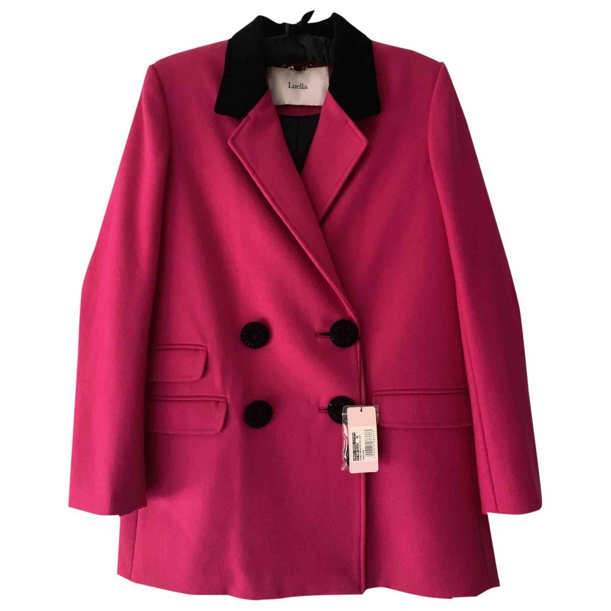 Luella - Manteau   pour femme en laine - rose