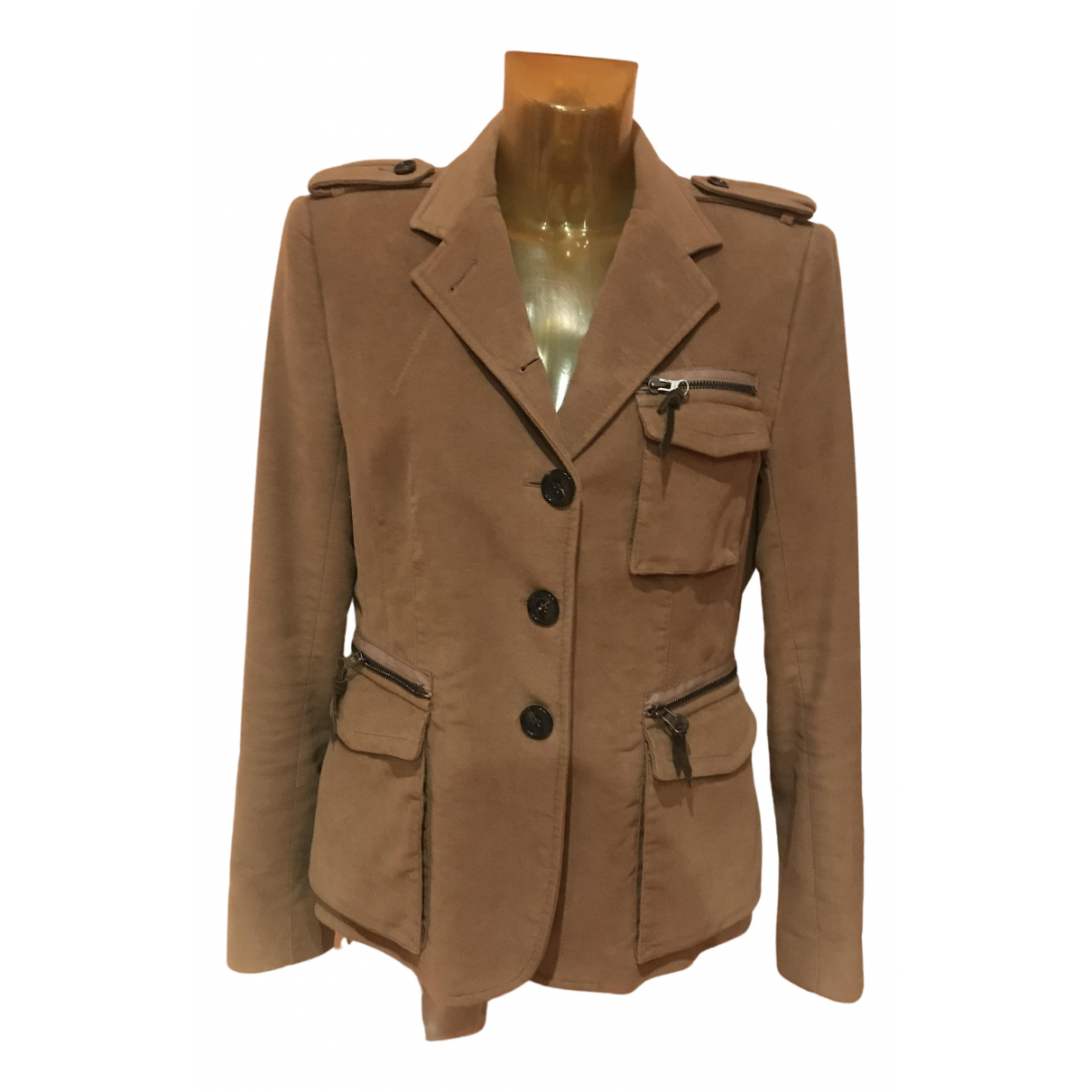 Non Signé / Unsigned N Camel Cotton jacket for Women 46 IT