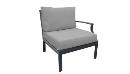 TKC067b-LAS-GREY Left Arm Chair - Ash and Grey