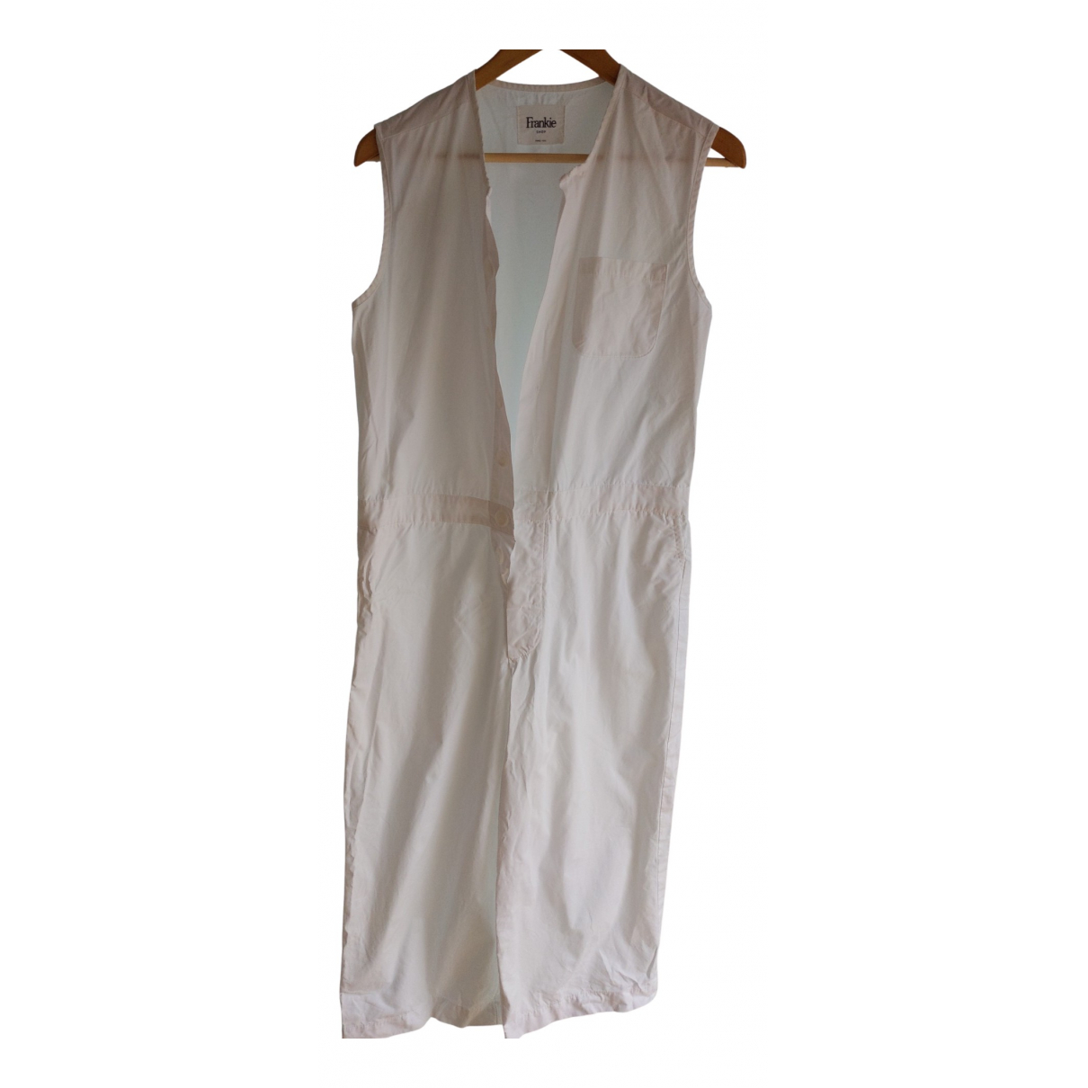 The Frankie Shop N White Cotton jumpsuit for Women One Size International