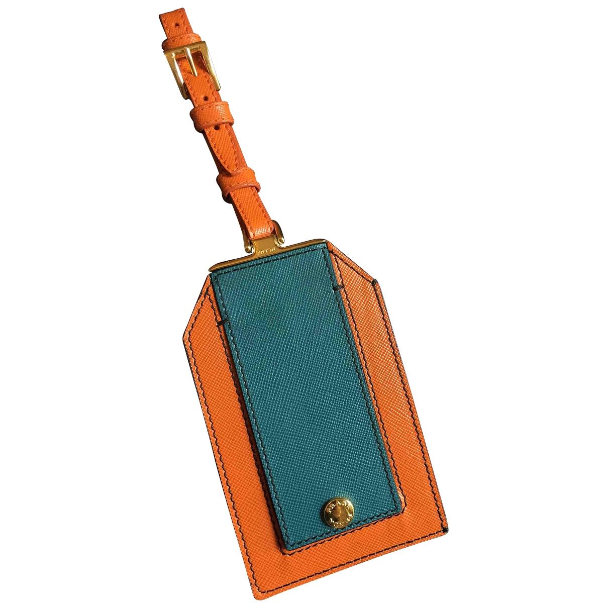 Prada \N Accessoires und Dekoration in  Orange Leder