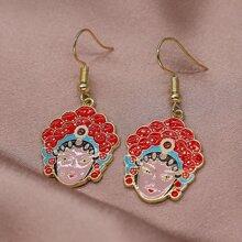 Ohrringe mit chinesischem Pekingoper Anhaenger