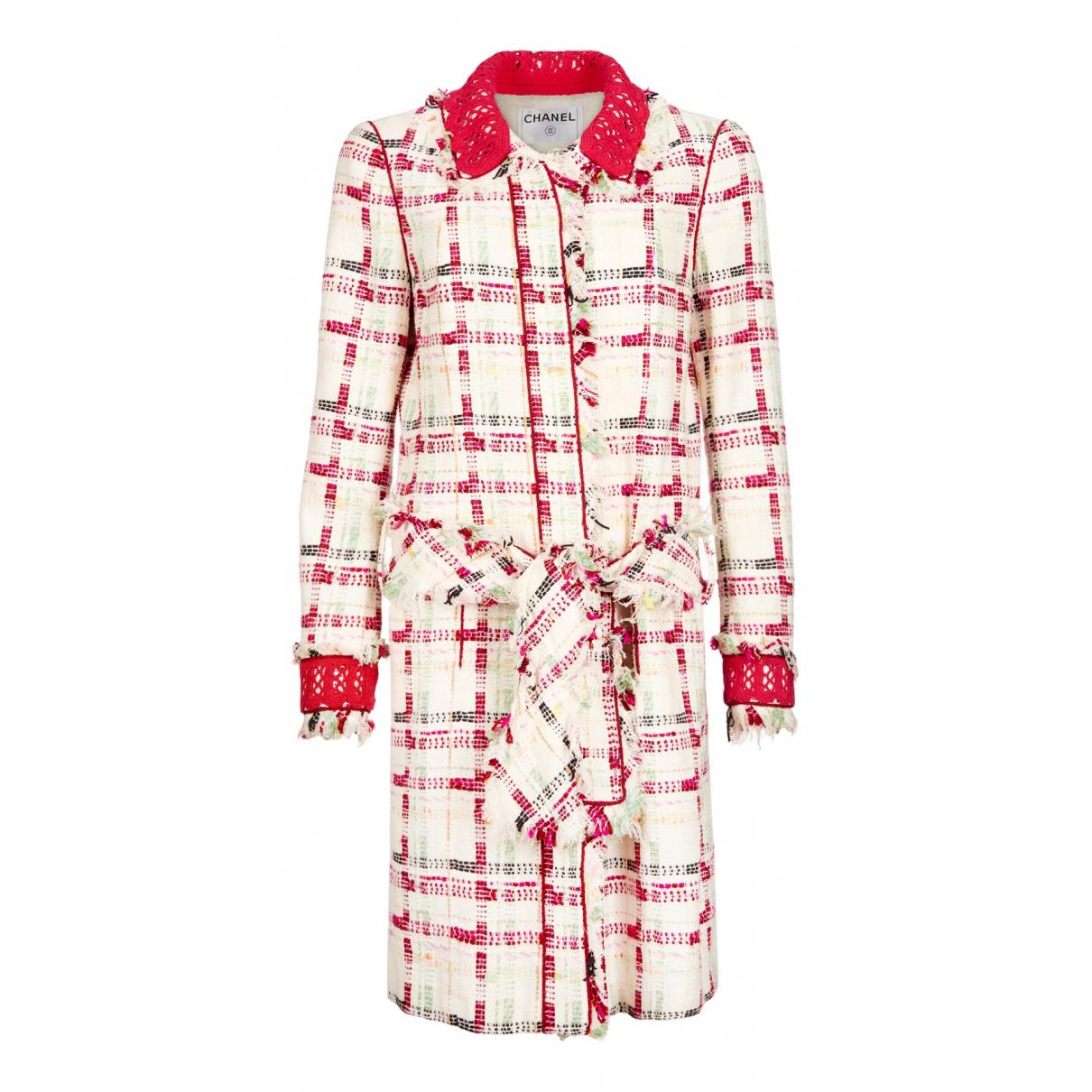 Chanel - Manteau   pour femme en tweed - blanc