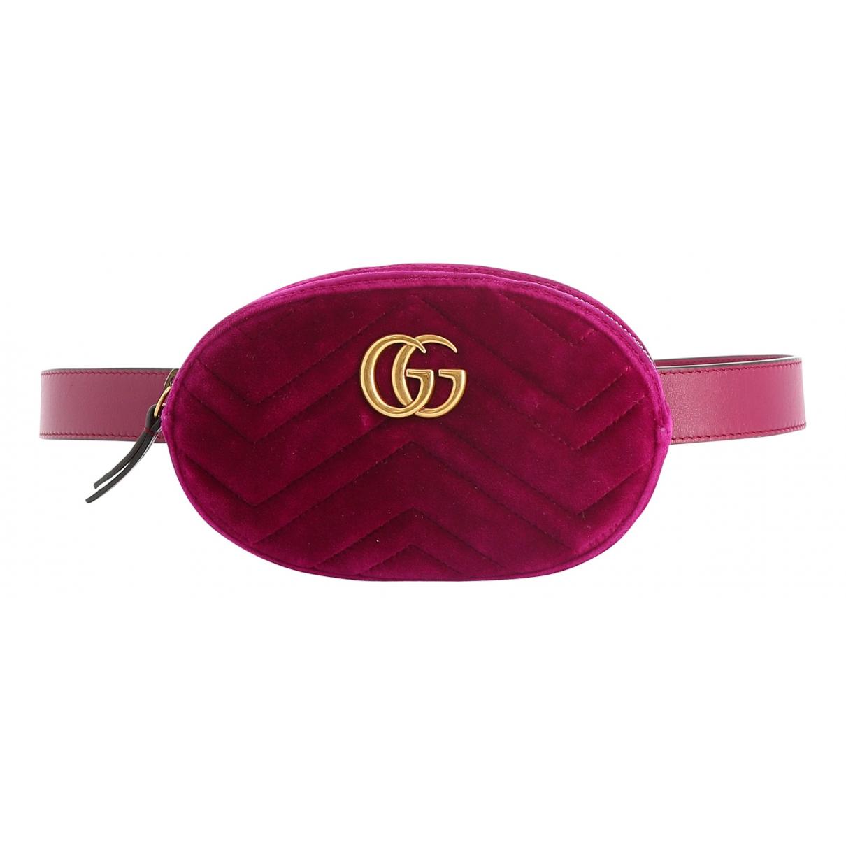 Gucci - Pochette   pour femme en velours - violet