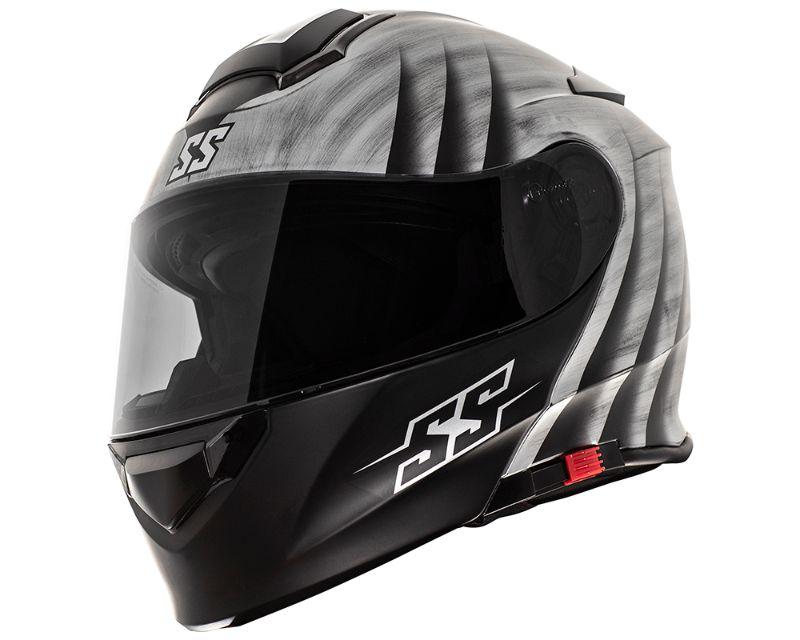 Speed and Strength 884865 SS4100 Spikes Helmet Protective ABS Shell Silver SM