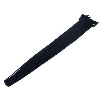 Monoprice® Hook & Loop Fastening Cable Ties, 13-inch, 50pcs/pack - Black