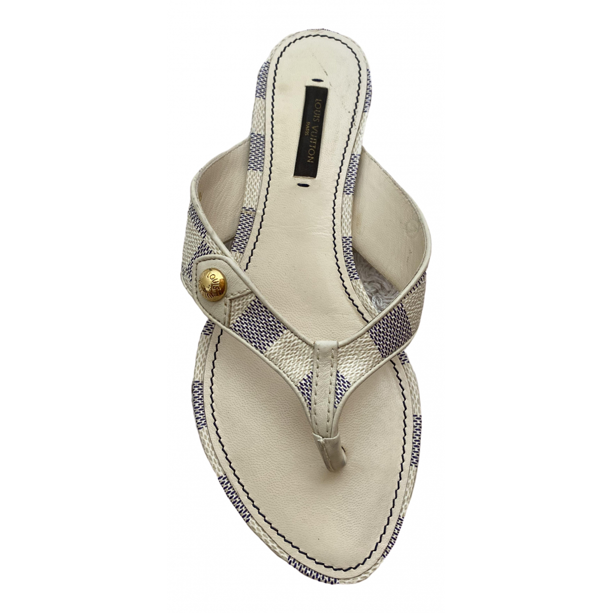 Louis Vuitton \N Sandalen in  Weiss Leder