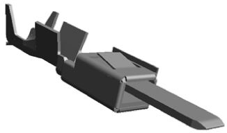 TE Connectivity , Micro Power Quadlock Male Crimp Terminal Contact 968137-2 (10)