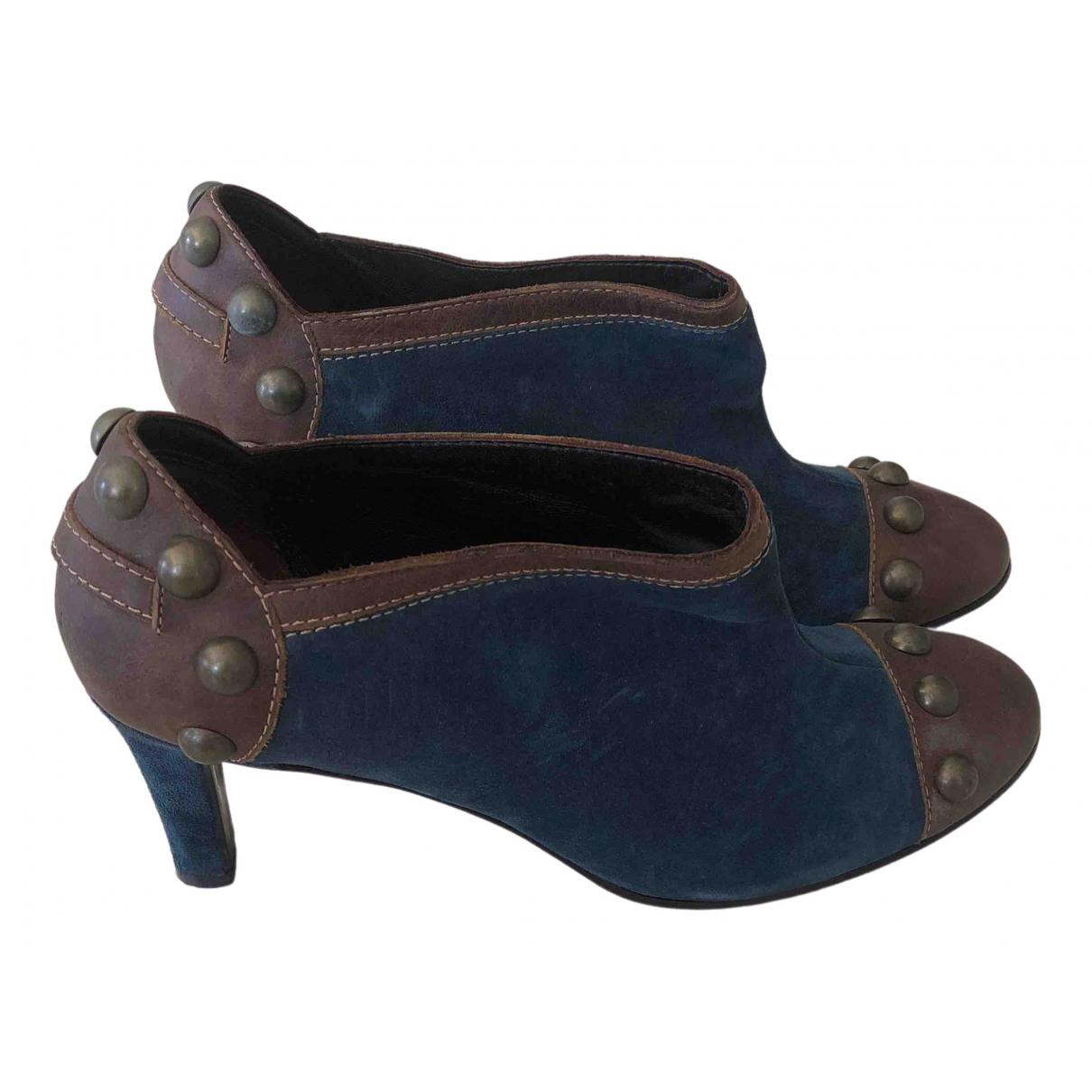 Chloe \N Stiefeletten in  Blau Veloursleder