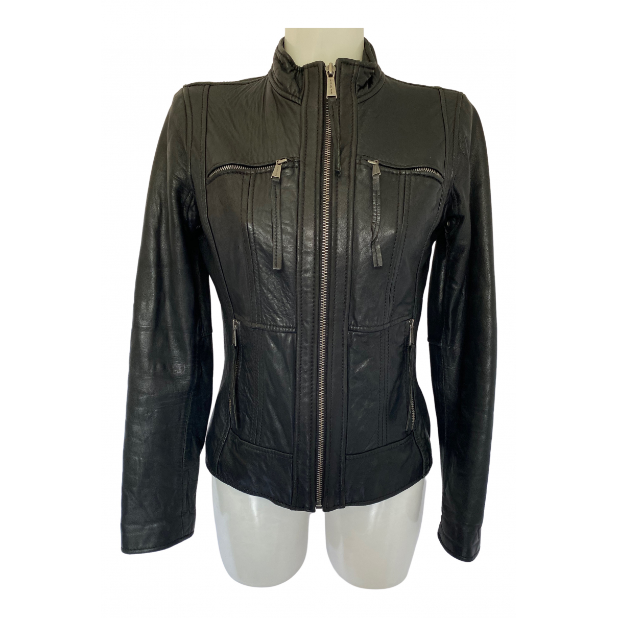 Michael Kors \N Black Leather jacket for Women S International