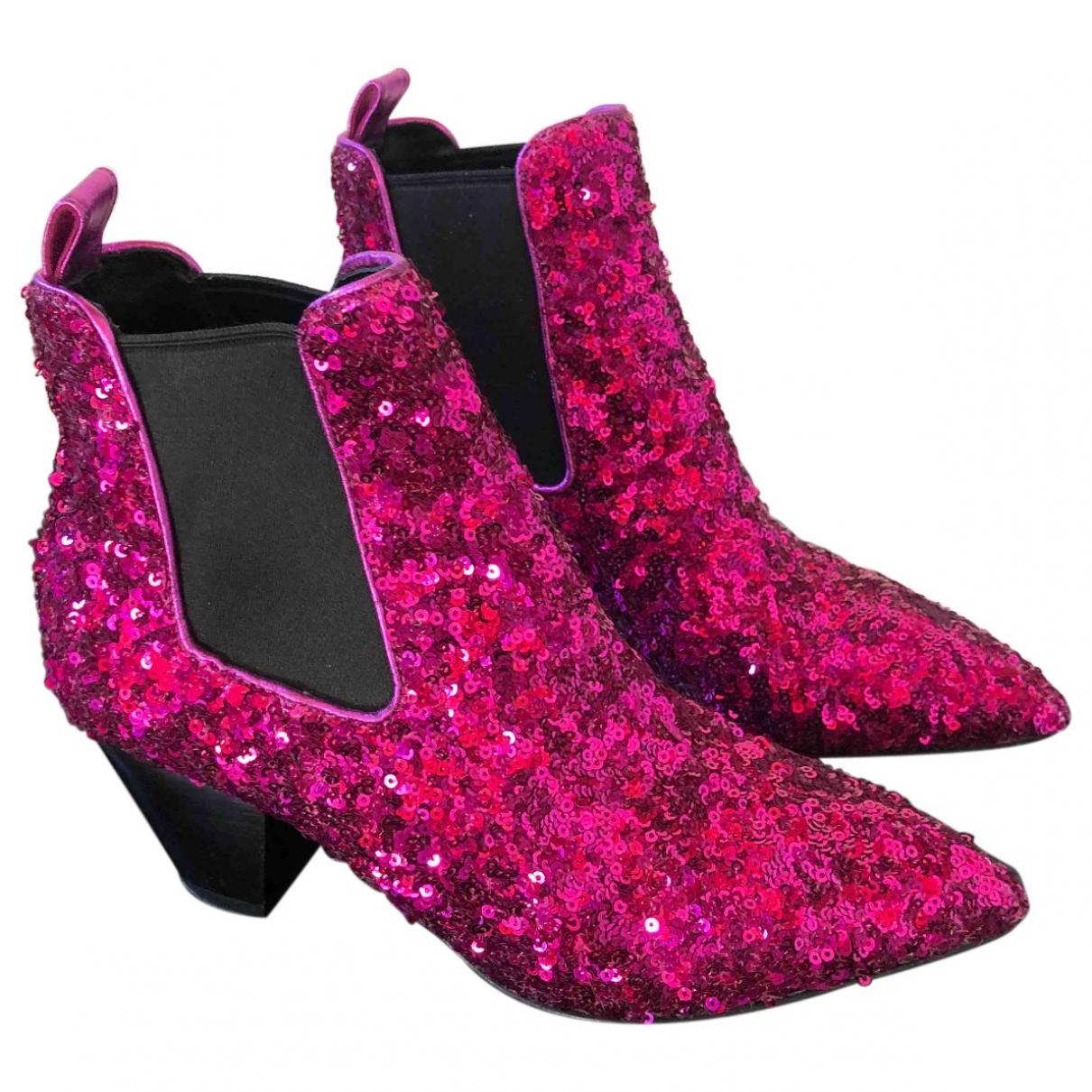 Marc Jacobs - Boots   pour femme en a paillettes - violet