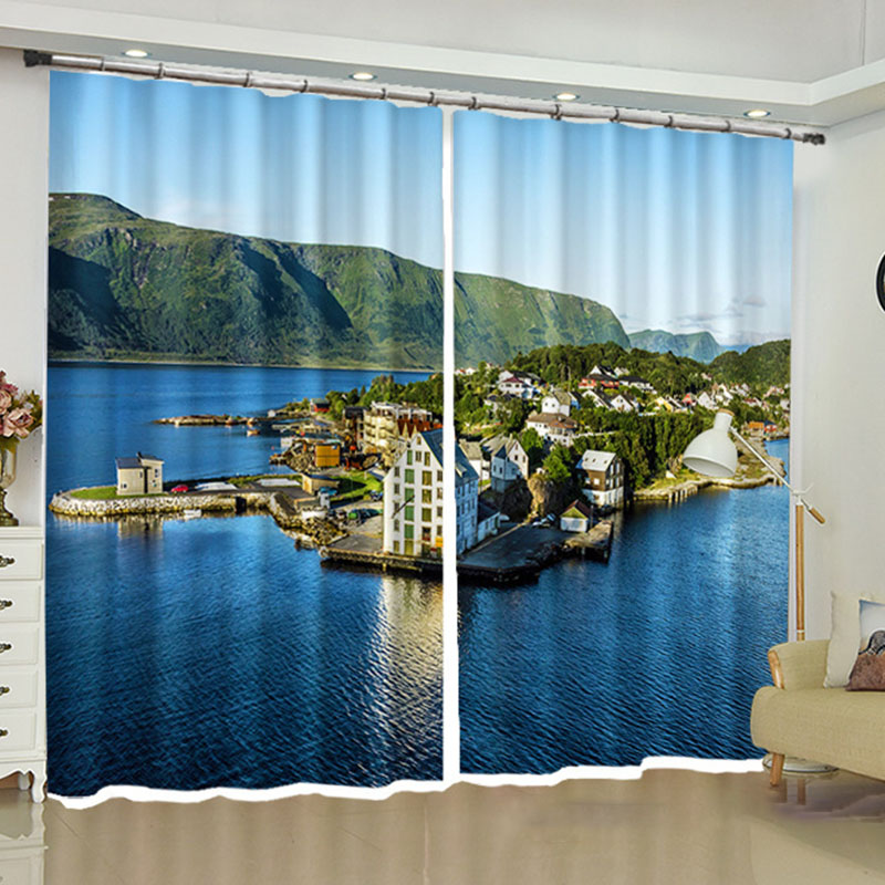 Blackout Creative Curtains Window Screens Water-Repellent Fabrics Great Shading Rate No Pilling No Fading and No off-lining