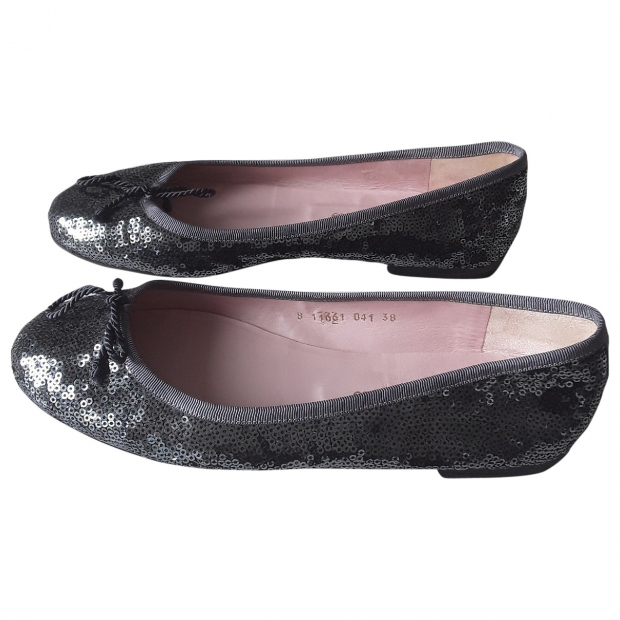 Pretty Ballerinas \N Grey Glitter Ballet flats for Women 38 EU