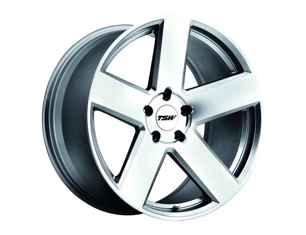 TSW Bristol Wheel 18x8.5 5x120 30mm Silver w/Mirror Cut Face
