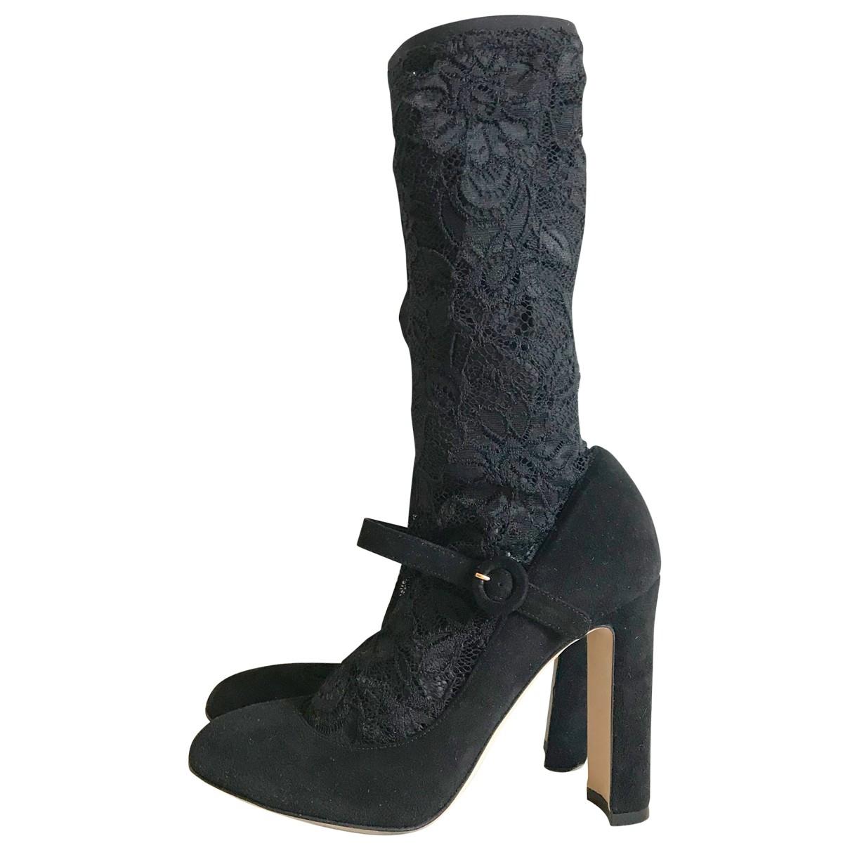 Dolce & Gabbana - Boots Taormina pour femme en suede - noir