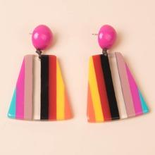 Colorful Striped Pattern Drop Earrings